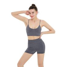 Conjuntos de roupas de ioga apertados e curtos para mulheres