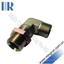 Elbow Bsp Mâle cloison avec adaptateur hydraulique pour écrous de blocage (6B9-LN)