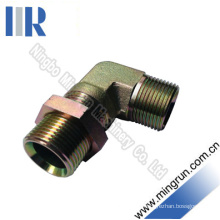 Elbow Bsp Male Bulkhead with Lock Nut Hydraulic Adapter (6B9-LN)