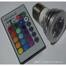 Пульт дистанционного управления 3W светодиодный прожектор RGB e27