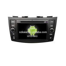 Quad core!car dvd with mirror link/DVR/TPMS/OBD2 for 7inch touch screen quad core 4.4 Android system Suzuki Swift