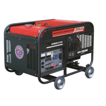 Air Cooled 2.6 KVA Gasoline Generator 4 Wheels 100kg Easy Operated Home Used