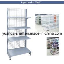 Supermarket Metal Back Net Wire Gondola Wall Shelf