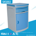 SKS002 Mobile Hospital ABS Plastic Bedside Cabinet Without Casters