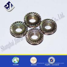 Shanghai Jinrui zinc plated flange hex nuts