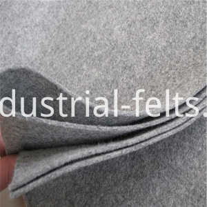 Grey flame retardant felt