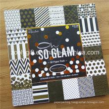 "Customize Printing 12 X 12 "" Gold Foil Scrapbook Paper Pack /Decorative DIY Scrapbooking Paper Pad"