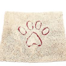 Tapis de porte de chien de Chenille de microfibre, durable, séchage rapide