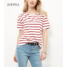 Red Stripe Boxy Frauen T-Shirt