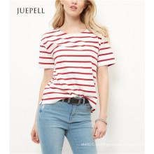 Красная Полоса Свободного Женщины T Рубашка