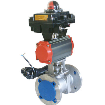Stainless Steel Ball Valve with Pneumatic Actuator Manufacturer