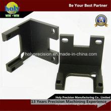 Support en aluminium CNC avec finition anodisée noire