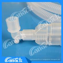 Tubo corrugado do circuito de respiração descartável da anestesia