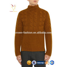 Korea Style Cable Knit Mens Turtle Neck Sweater