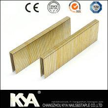 Pneumatic 92 Series Staples pour toitures, emballages, meubles, construction