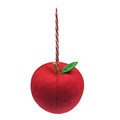 3D apple shape christmas hanging pendant