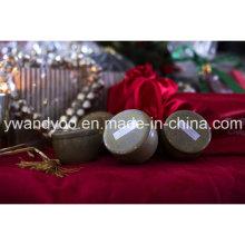 @ Christmas Presente Set Seriess ambicioso cera de soja orgânica vela de lata perfumada natural