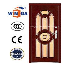 Puerta blindada de madera de acero del MDF del exterior del mercado de Irán (W-A14)