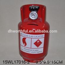 Butane gas lighter style saving bank