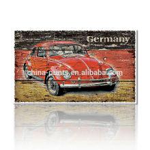 Peinture classique en toile de voiture / Vente en gros d'impression murale / Affiche imprimée vintage