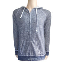 Lady's 60% cotton 40% polyester full zipper hoodies