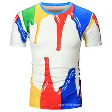 Custom Round Neck T Shirt Men 100% Cotton Printing