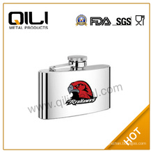 Stainless steel hip flask with heat-transfered picture|4OZ eagle names wine flask