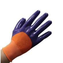 NMSAFETY nitrilo 3/4 luvas revestidas, luvas de trabalho de segurança, luvas de trabalho do maquinista