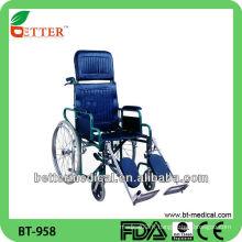 Chaise roulante pour patient en acier