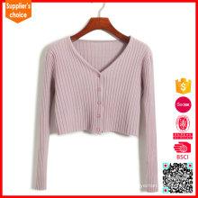Nuevo suéter de cachemira rosa de diseño de moda como el cabo de cachemira