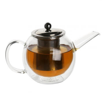 Best Quality for Glass Tea Cups Double wall Glass Teapot Iced Tea Pitcher supply to Cook Islands Factory