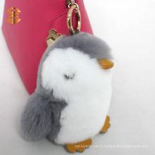 Porte-clés mignon en fourrure en fourrure en lapin Porte-clés en couleur pour dames