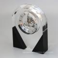 Relógio de mesa de cristal