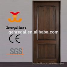 CE estándar barnizado 100% puertas interiores de madera maciza