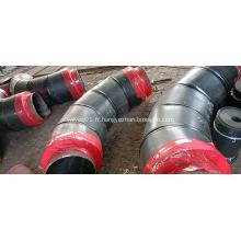 Raccord de tuyau d'isolation en mousse de polyuréthane de veste en acier