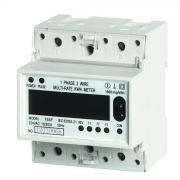 TRILHO DIN, montagem de medidor de energia Digital eletrônica multi-taxa monofásica dois fios