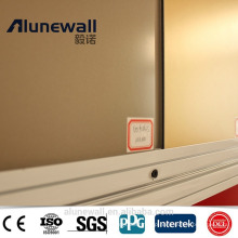 Alunewall A2 Grade fire-rated alucobond acp panel/ alucobond b1 grade fireproof aluminum composite panel