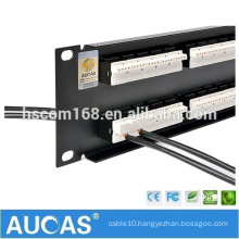 "50 port RJ11 telephone voice patch panel / 1U 19"" rack mount AMP cat3 patch panel"