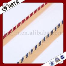 Color azul y rojo hermosa cuerda decorativa para decoración de sofá o accesorios de decoración para el hogar, cuerda decorativa, 6mm