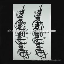 OEM Großhandel Runenmuster Arm Tattoo Schwarz gefälschte Arm Tattoos Temporäre Tattoos für Hand W-1096