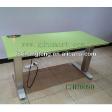 Aluminum alloy frame tube height adjustable office table with 4 memory controlling pre-set