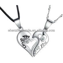 Pendentif coeur nouveau produit séparé pour bijoux gravés gratuits