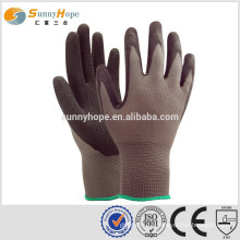 13 Gauge nylon knit latex work gloves