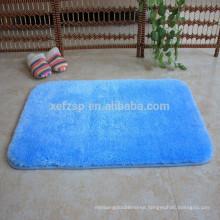 blue bathroom microfiber silk shaggy bath mat rug