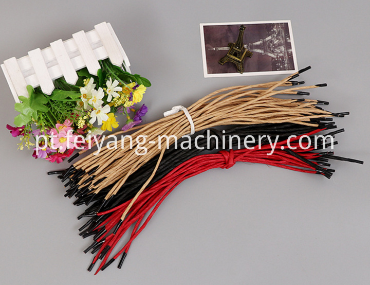 Red Color Twisted Paper Cord for Paper Bags