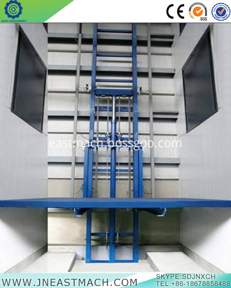 Stationary Rail Freight Elevator Cargo Lift