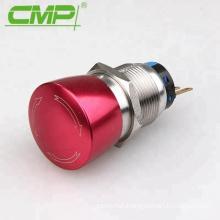 Installation diameter 22mm aluminium alloy mushroom emergency stop switch IP67