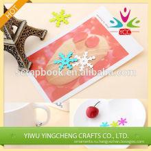 Красочные снежинка блесток аппликация рождественские украшения высокого качества