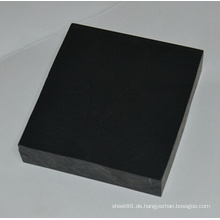 Extrudierte PVC-Kunststoffplatte Schwarz