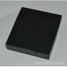 Feuille de plastique PVC extrudé noir